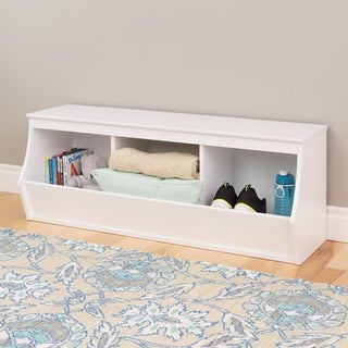 Stackable 3-bin Storage Cubby