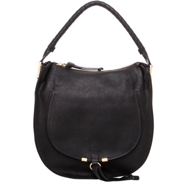 Chloe Pure Marcie Black Leather Hobo Bag