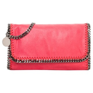 Stella McCartney Falabella Rose Leatherette Fold-over Clutch