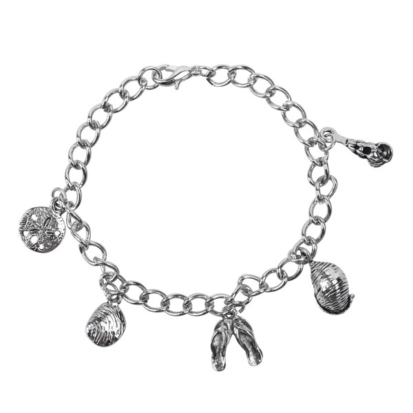 Journee Collection Sterling Silver Shell Bracelet