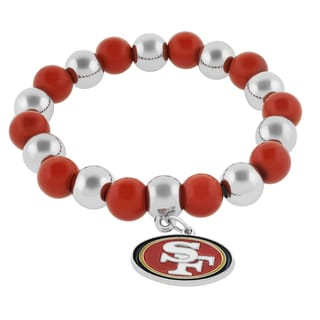 NFL Sports Team Emblem Bead Bracelet