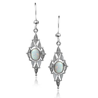 Journee Collection Opal Dangle Earrings