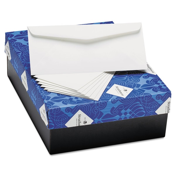 Strathmore Bright White 25% Cotton Business Envelopes