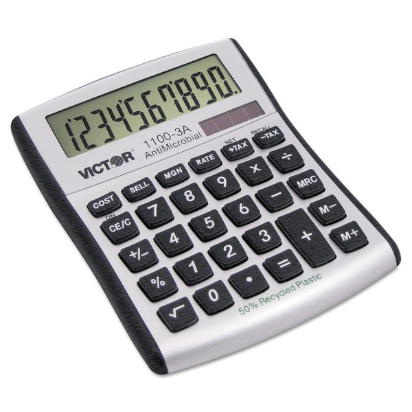 Victor 1100-3A Antimicrobial Compact Desktop Calculator