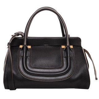 Chloe Everston Medium Black Calfskin Satchel