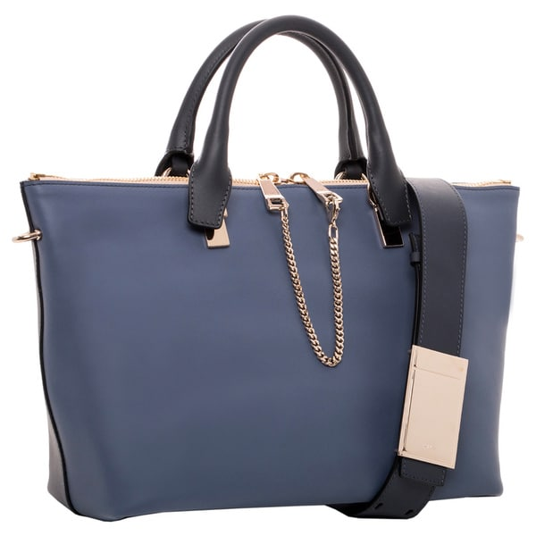 Chloe Baylee Medium Street Blue and Navy Leather Tote