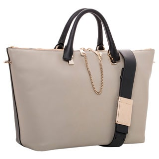 Chloe Baylee Large Two-Tone Leather Tote