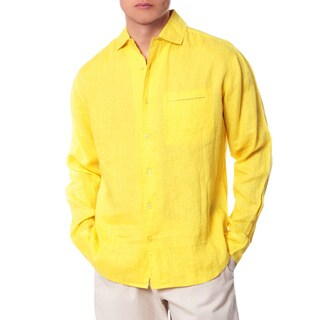 Men's Yellow California Collared Shirt