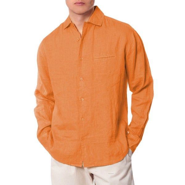 Men's Orange California Collared Shirt