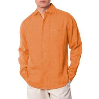 Men's Orange California Collared Shirt