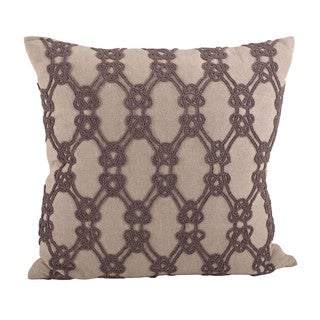Beaded Knotted 18-inch Down Filled Throw Pillow
