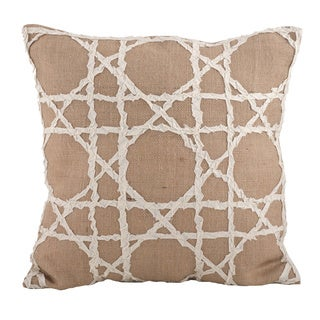 Fretwork 18-inch Down Filled Throw Pillow