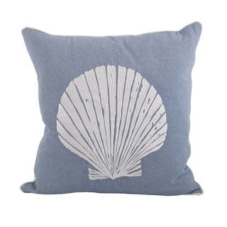 Scallop Shell 18-inch Down Filled Throw Pillow