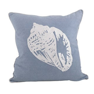Conch Shell 18-inch Down Filled Throw Pillow