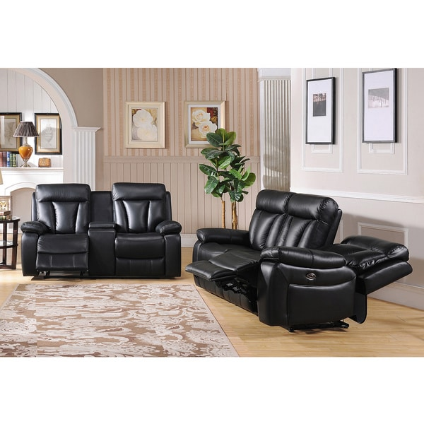 black leather sofa loveseat and reclin batar