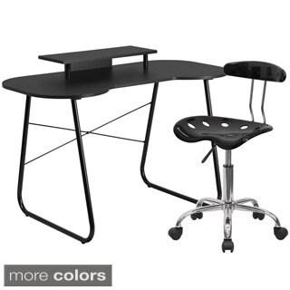 Office Desk and Roller Chair Set