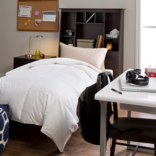 Luxury Oversized American White Down Twin XL Dorm Ready College University Bafflebox Comforter