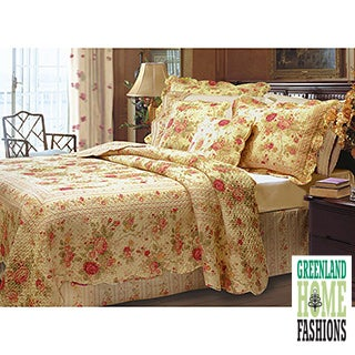 Greenland Home Fashions Antique Rose 3-piece Quilt Set