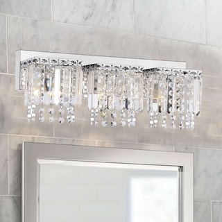 4 Light Chrome Crystal Wall Sconce Bathroom Vanity Fixture 24 13980478