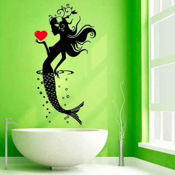 Mermaid Decor Sticker Vinyl Wall Art 15276398