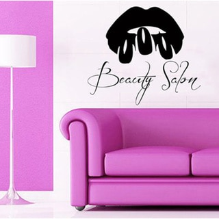 Lips Nails Salon Decor Sticker Vinyl Wall Art 15276416