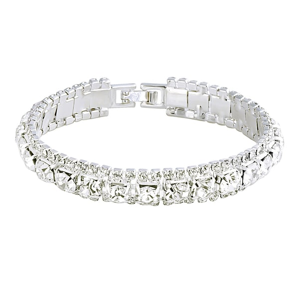 Zodaca Silver White Free Size Fashion Woman Crystal Bracelet