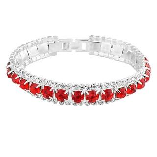 Zodaca Red Free Size Fashion Woman Crystal Bracelet
