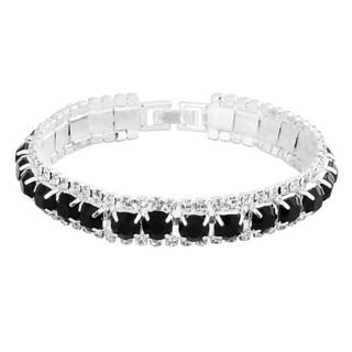 Zodaca Black Free Size Fashion Woman Crystal Bracelet