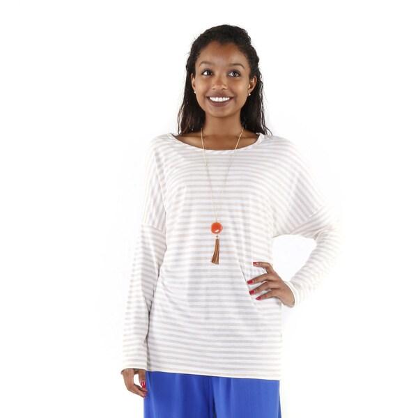 Hadari Women's Long Sleeve Stripe Top