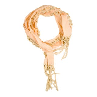 Pink Dyed Crochet Scarf (India)
