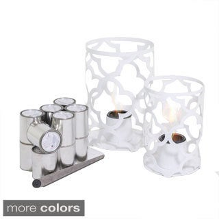 Mediterranean Large and Small Outdoor Steel Lanterns with SunJel Fuel
