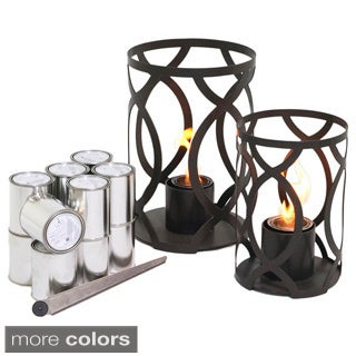 Savannah Large and Small Outdoor Steel Lanterns with SunJel Fuel by TF Essentials