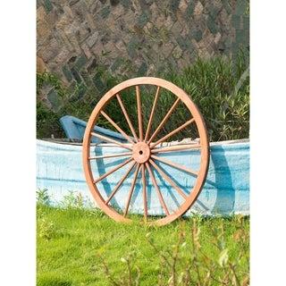 Decorative Antique Red 42-inch Wagon Garden Wheel