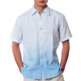 Men's Blue Hues Ombre Linen Shirt