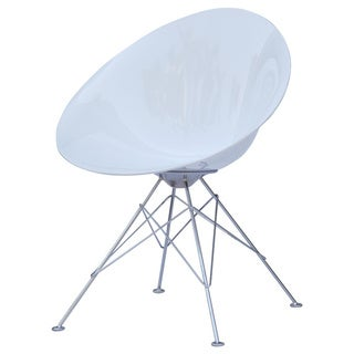 White Eco Wirebase Dining Chair