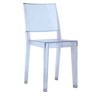 Clear Square Side Chair