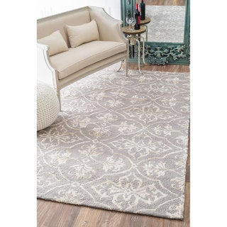 nuLOOM Handmade Contemporary Wool/ Silk Rug (9' x 12')