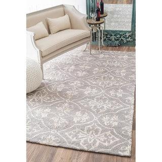 nuLOOM Handmade Contemporary Wool/ Silk Rug (8' x 10')