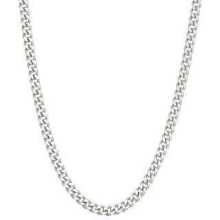 Gioelli Sterling Silver Gourmette 3.75mm Chain Necklace