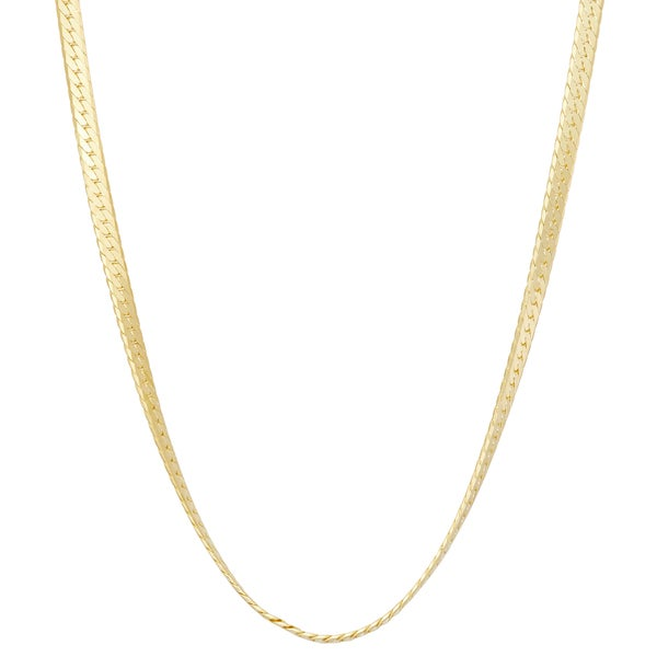 Gioelli Sterling Silver Herringbone 2.3mm Chain Necklace