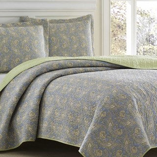 Laura Ashley Brentford Reversible 3-piece Quilt Set
