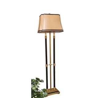 Somette Vanguard Series Gold Triple Pillar with Faux Candle Floor Lamp
