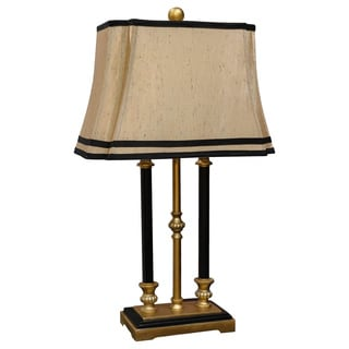 Somette Vanguard Series Gold Triple Pillar with Faux Candle Table Lamp
