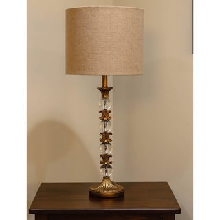 Somette Vanguard Series Gold with Crystal Orbs Table Lamp