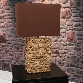 Somette Vanguard Series Rattan Rectangular Accent Lamp
