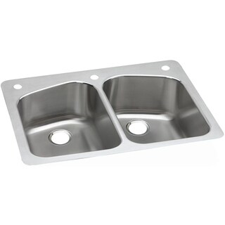 Elkay Gourmet Drop-in Stainless Steel DPXSR233221 Kitchen Sink