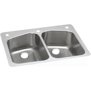 Elkay Gourmet Drop-in Stainless Steel DPXSR233223 Kitchen Sink