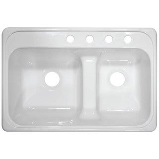 Lyons Deluxe Chef Select Dual Bowl Low Dam Acrylic Kitchen Sink