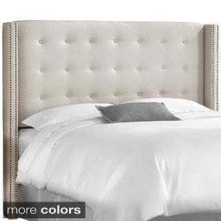 Made to Order Button tufted Full Wingback Headboard