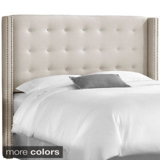 Made to Order Button tufted Queen Wingback Headboard